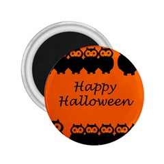 Happy Halloween - owls 2.25  Magnets