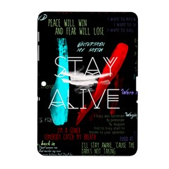 Twenty One Pilots Stay Alive Song Lyrics Quotes Samsung Galaxy Tab 2 (10.1 ) P5100 Hardshell Case
