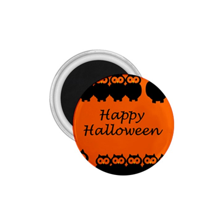 Happy Halloween - owls 1.75  Magnets