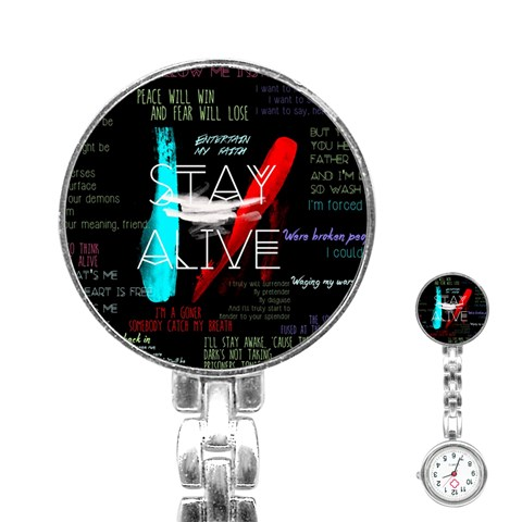 Twenty One Pilots Stay Alive Song Lyrics Quotes Stainless Steel Nurses Watch