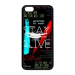 Twenty One Pilots Stay Alive Song Lyrics Quotes Apple iPhone 5C Seamless Case (Black) Front
