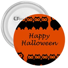 Happy Halloween   Owls 3  Buttons