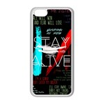 Twenty One Pilots Stay Alive Song Lyrics Quotes Apple iPhone 5C Seamless Case (White) Front