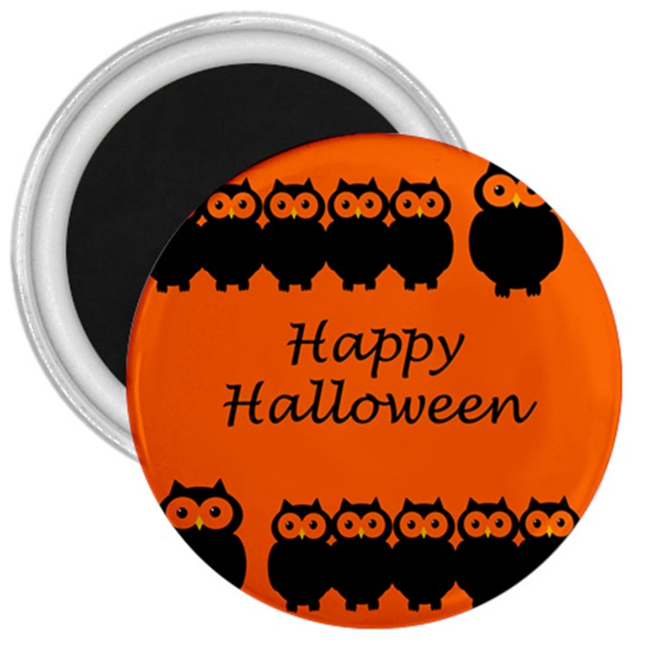 Happy Halloween - owls 3  Magnets