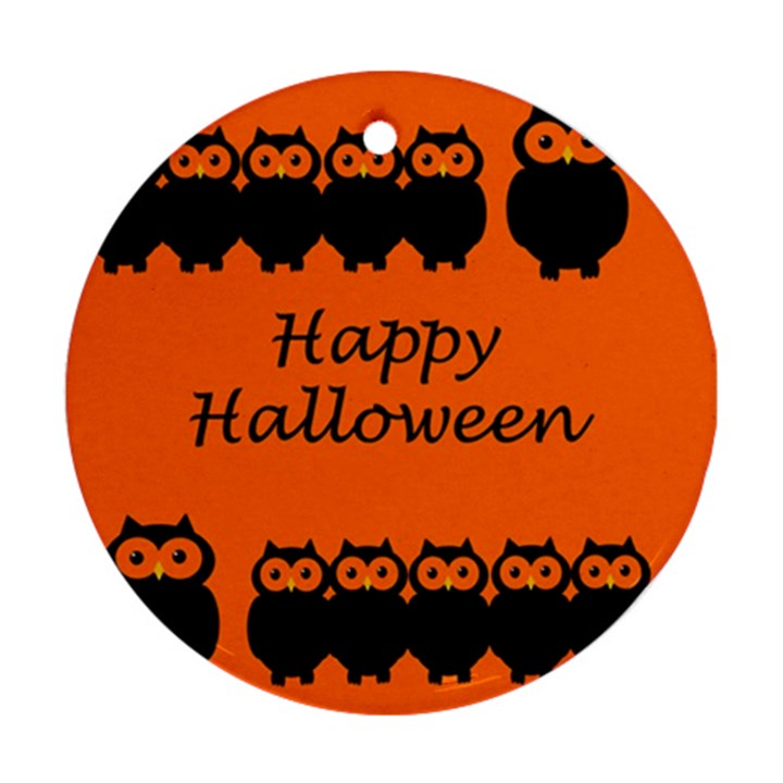 Happy Halloween - owls Ornament (Round)