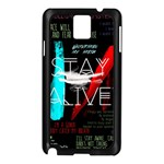 Twenty One Pilots Stay Alive Song Lyrics Quotes Samsung Galaxy Note 3 N9005 Case (Black) Front