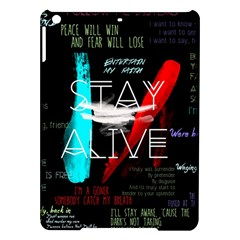 Twenty One Pilots Stay Alive Song Lyrics Quotes iPad Air Hardshell Cases