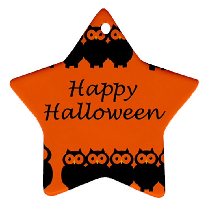 Happy Halloween - owls Ornament (Star)