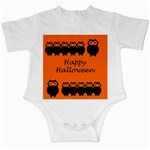 Happy Halloween - owls Infant Creepers Front