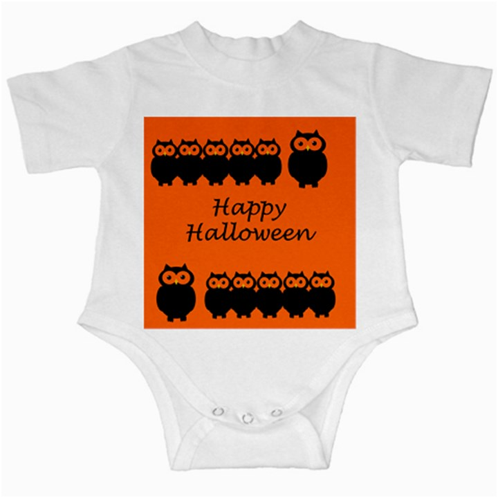 Happy Halloween - owls Infant Creepers