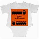 Happy Halloween - owls Infant Creepers Back