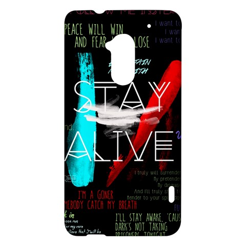 Twenty One Pilots Stay Alive Song Lyrics Quotes HTC One Max (T6) Hardshell Case