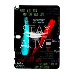 Twenty One Pilots Stay Alive Song Lyrics Quotes Samsung Galaxy Note 10.1 (P600) Hardshell Case
