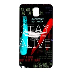 Twenty One Pilots Stay Alive Song Lyrics Quotes Samsung Galaxy Note 3 N9005 Hardshell Back Case