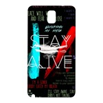 Twenty One Pilots Stay Alive Song Lyrics Quotes Samsung Galaxy Note 3 N9005 Hardshell Back Case Front