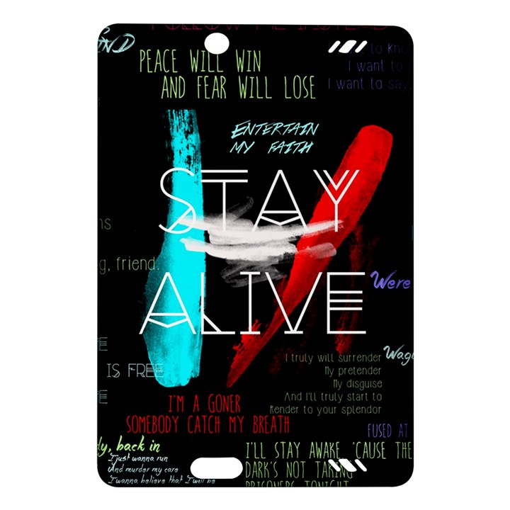 Twenty One Pilots Stay Alive Song Lyrics Quotes Amazon Kindle Fire HD (2013) Hardshell Case