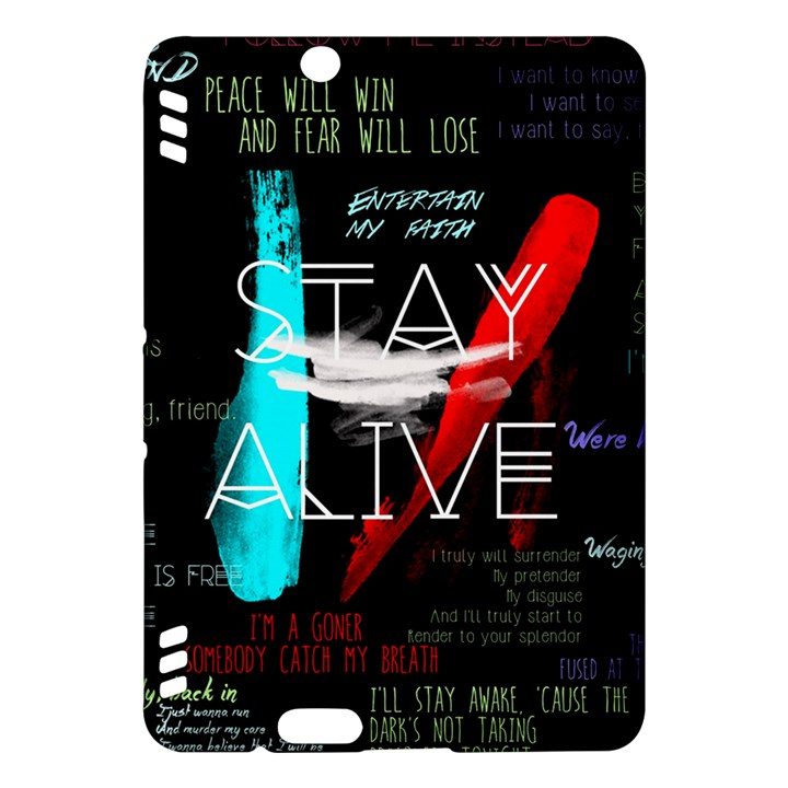 Twenty One Pilots Stay Alive Song Lyrics Quotes Kindle Fire HDX Hardshell Case