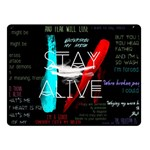 Twenty One Pilots Stay Alive Song Lyrics Quotes Double Sided Fleece Blanket (Small)  50 x40 Blanket Back