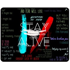 Twenty One Pilots Stay Alive Song Lyrics Quotes Double Sided Fleece Blanket (Medium)