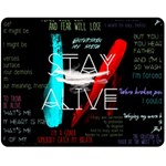 Twenty One Pilots Stay Alive Song Lyrics Quotes Double Sided Fleece Blanket (Medium)  58.8 x47.4 Blanket Back