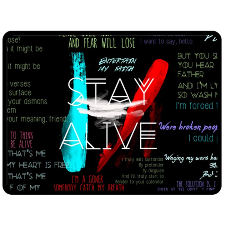 Twenty One Pilots Stay Alive Song Lyrics Quotes Double Sided Fleece Blanket (Large)