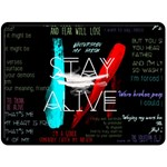 Twenty One Pilots Stay Alive Song Lyrics Quotes Double Sided Fleece Blanket (Large)  80 x60 Blanket Back