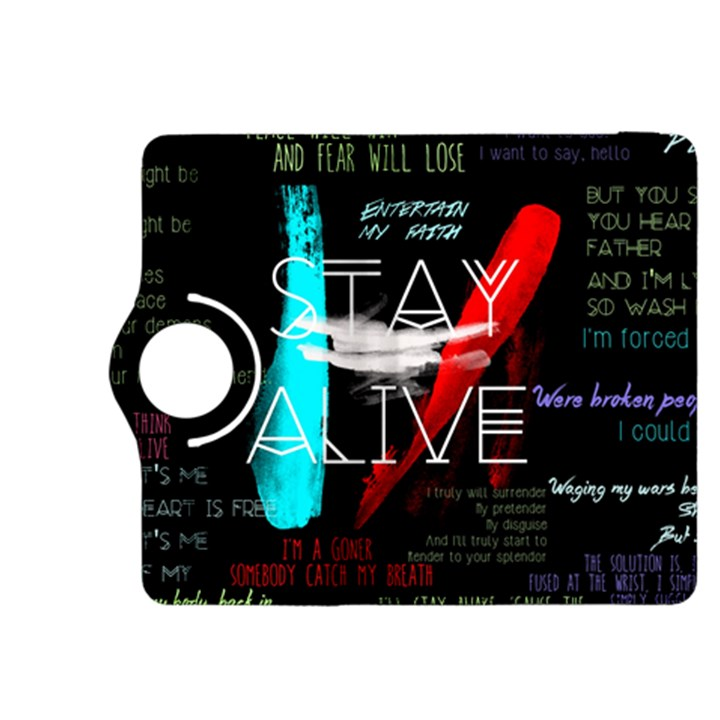 Twenty One Pilots Stay Alive Song Lyrics Quotes Kindle Fire HDX 8.9  Flip 360 Case