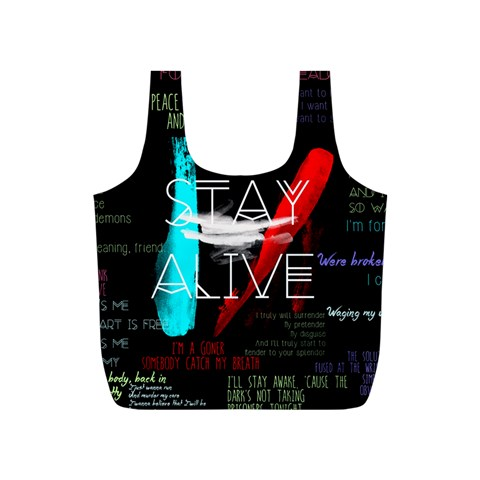 Twenty One Pilots Stay Alive Song Lyrics Quotes Full Print Recycle Bags (S)