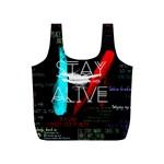 Twenty One Pilots Stay Alive Song Lyrics Quotes Full Print Recycle Bags (S)  Front