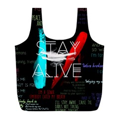 Twenty One Pilots Stay Alive Song Lyrics Quotes Full Print Recycle Bags (L)