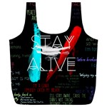 Twenty One Pilots Stay Alive Song Lyrics Quotes Full Print Recycle Bags (L)  Front