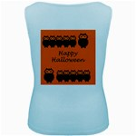 Happy Halloween - owls Women s Baby Blue Tank Top Back