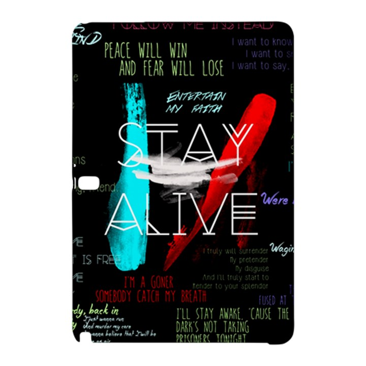 Twenty One Pilots Stay Alive Song Lyrics Quotes Samsung Galaxy Tab Pro 10.1 Hardshell Case