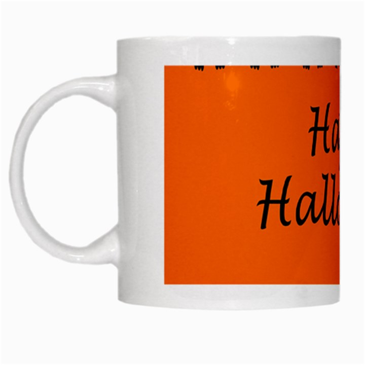 Happy Halloween - owls White Mugs