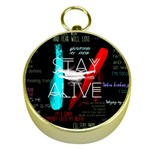 Twenty One Pilots Stay Alive Song Lyrics Quotes Gold Compasses Front