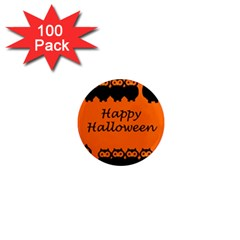 Happy Halloween   Owls 1  Mini Magnets (100 Pack)