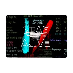 Twenty One Pilots Stay Alive Song Lyrics Quotes iPad Mini 2 Flip Cases