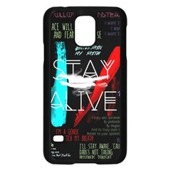 Twenty One Pilots Stay Alive Song Lyrics Quotes Samsung Galaxy S5 Case (black)