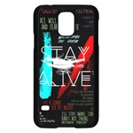 Twenty One Pilots Stay Alive Song Lyrics Quotes Samsung Galaxy S5 Case (Black) Front