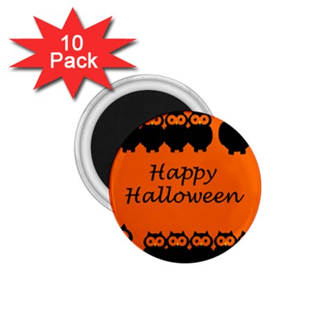 Happy Halloween - owls 1.75  Magnets (10 pack)