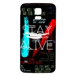 Twenty One Pilots Stay Alive Song Lyrics Quotes Samsung Galaxy S5 Back Case (White) Front