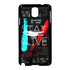 Twenty One Pilots Stay Alive Song Lyrics Quotes Samsung Galaxy Note 3 Neo Hardshell Case (Black)