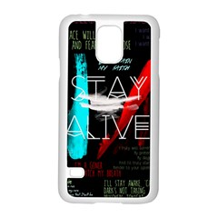 Twenty One Pilots Stay Alive Song Lyrics Quotes Samsung Galaxy S5 Case (white)