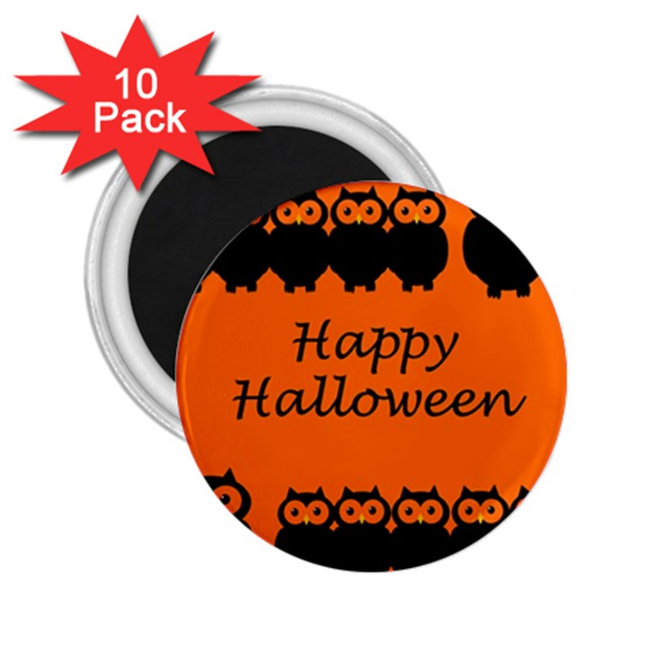 Happy Halloween - owls 2.25  Magnets (10 pack)