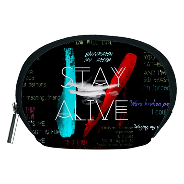 Twenty One Pilots Stay Alive Song Lyrics Quotes Accessory Pouches (Medium)