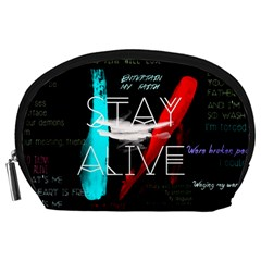 Twenty One Pilots Stay Alive Song Lyrics Quotes Accessory Pouches (Large)