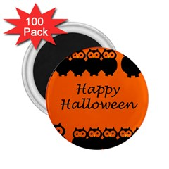 Happy Halloween   Owls 2 25  Magnets (100 Pack)