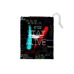 Twenty One Pilots Stay Alive Song Lyrics Quotes Drawstring Pouches (Small)