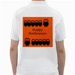 Happy Halloween - owls Golf Shirts Back