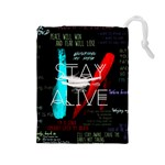 Twenty One Pilots Stay Alive Song Lyrics Quotes Drawstring Pouches (Large)  Front